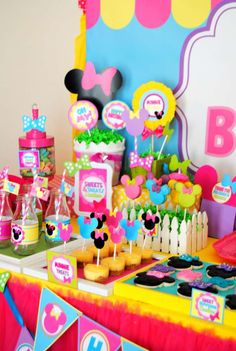 Minnie Mouse Birthday Party Ideas   Photo 7 of 74