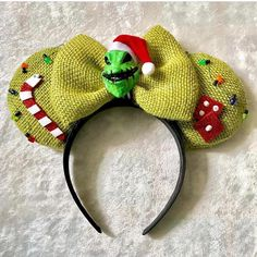 """I almost forgot!!! READY TO SHIP Ears! First come first serve✔ Oogie Boogie (1 Available) $35 Free Shipping comment """"Me"""" to claim"""