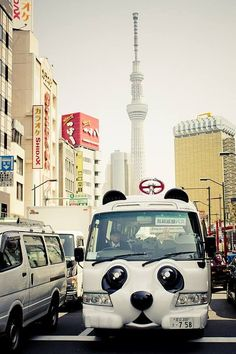 Panda bus! Only in Japan
