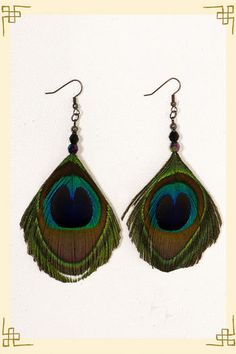 I have tons of peacock feathers and love making earrings with them. Need to find some cool crimps.