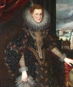 D. Isabel Clara Eugenia, Princess of Portugal, by Flemish school (location unknown to gogm) | Grand Ladies | gogm