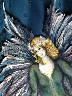 Detail from Come Unto Me the Children, No Need to Fear the Dark  Watercolor on Paper
