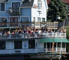 Idler Riverboat restaurant/bar open seasonally in summertime in South Haven and sits in Lake Michigan. Famous for its South Haven Iced Tea. (about 40 minutes from Kalamazoo). Fun boat!!!!!