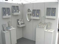 MONOCHROATIC art jewelry show booth display Booth Display Penrod 2005