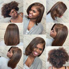 Really nice transformation ❤️✂️ Healthy hair 👌🏾 Hair Dos, My Hair, Pressed Natural Hair, Natural Hair Blowout, Straightened Natural Hair Styles, Belleza Natural, Hair Highlights, Caramel Highlights, Gorgeous Hair