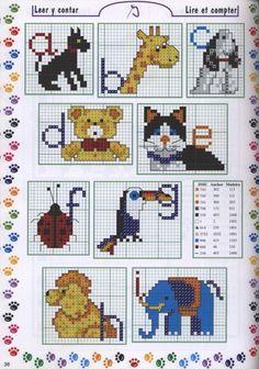 Gallery.ru / Фото #63 - Punto de cruz - KIM-2 toy animal alphabet charts