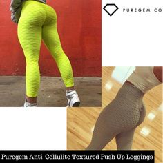 60dd672c4a306 Get our Puregem Anti-Cellulite Textured Push Up Leggings, and enjoy giving  your all