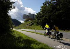 Liaunig Museum in Austria - The structure builds below the land for cost and energy optimization. http://mhllt.com/liaunig-museum/ #Neuhaus #Carinthia #Austria #Querkraft #Architecture #Design #Interior #Exterior #Concrete #GreenRoof #Skin #Museum #mhllt