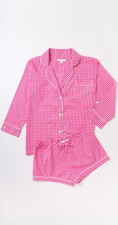 Maya Check Short Pajama Set