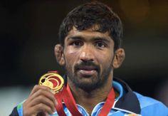 Yogeshwar Dutt : Gold medal in Men's wrestling, 65 kg freestyle
