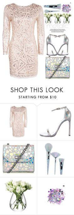 """""""#386 Holographic"""" by mayblooms on Polyvore featuring Boohoo, Stuart Weitzman, Unicorn Lashes, LSA International, The Gypsy Shrine and dreamydresses"""