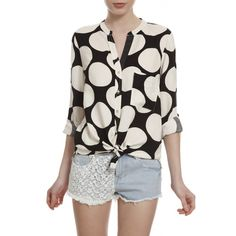Camisa Manga Longa Poás. #wearit #black #white #shirt #trends