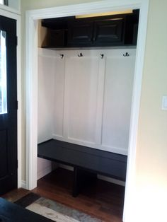Turn Coat Closet Into Mudroom