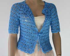 Wedding Bridal Bolero Shrug Lace Crochet Shrug by GABRIELAFAUR