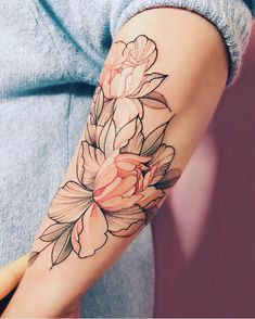 44 Flower Tattoo Colour for Reference Female Tattoos Piercings, Piercing Tattoo, Pretty Tattoos, Beautiful Tattoos, Cool Tattoos, Neue Tattoos, Bild Tattoos, Skull Tattoos, Body Art Tattoos