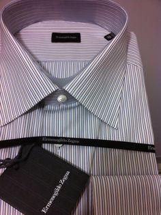 Ermenegildo Zegna Italy sartorial luxury gorgeous dress shirt 18/46, 2XL NWT$475 #ErmenegildoZegna