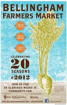 Bellingham Farmers market 2012 Poster