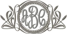 Cat Tail Monogram Frame - Machine Embroidery design Bling sass sparkle