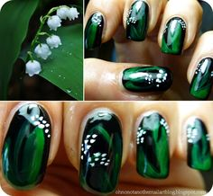 Oh No, Not Another Nail Art Blog!...: BirthFlowers Challenge #5 May- LILY OF THE VALLEY