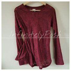 Burgundy Zara Shirt Excellent condition. Reasonable offers accepted. Ready for shipping. All packaged with love and care. No trade. No PayPal. Thank you for shopping my closet. Zara Tops