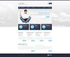 Hosting Responsive Website Template with Reporting Website Templates