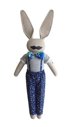 Moustache bunny - navyplum.com