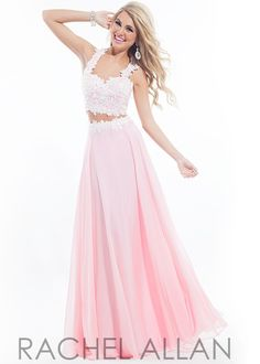 Rachel Allan 6832 Sweet Lace Two Piece Gown