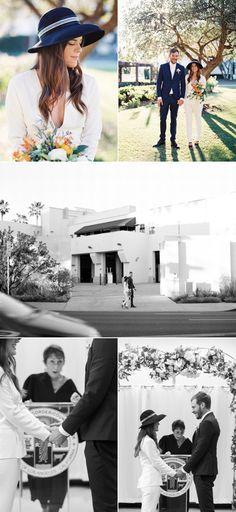 Stylish Beverly Hills Courthouse Wedding