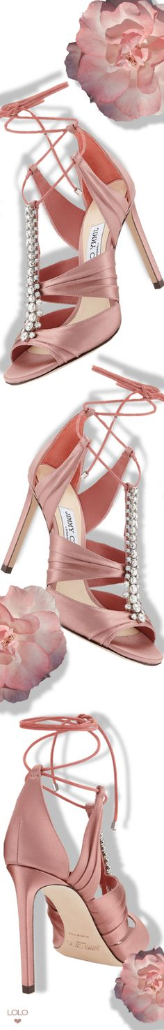 JIMMY CHOO KENNY 100 SATIN SANDALS #jimmychoo #sandals