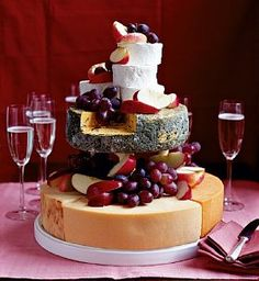 Cheese Celebration Cake - Marks & Spencer you add the fruit and everything so you can decorate it exactly how you want!