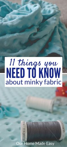 Here are 11 tips that you need to know before you start sewing minky fabric! It's the softest fabric and great for beginners! Click to see the tricks!