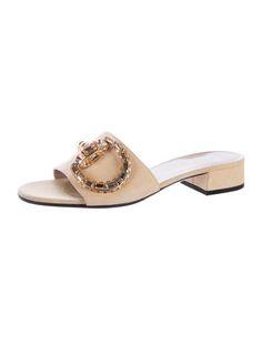 2016 Maxime Crystal Embellished Suede Slide Sandals