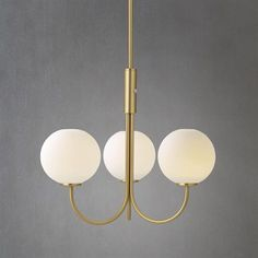 Ballon chandelier - brass-white - Herstal multiples of this up through the atrium for a chandelier?