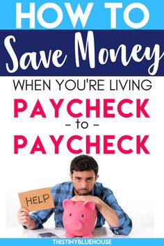 How to save money when you're living paycheck to paycheck. This super easy budgeting plan helps you build up an emergency fund super quickly. Save Money On Groceries, Ways To Save Money, Money Tips, Money Saving Tips, Money Saving Challenge, Budgeting Tips, Money Matters, Finance Tips, Money Management