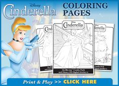 Free Coloring Pages for Disney Cinderella