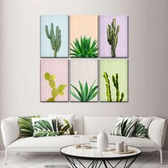 Cactus Canvas Set Wall Art will spruce up the walls of any room you choose to place it in. Reflect your love for plants that give you fresh air to breathe with this beautiful art print. Plant Wall Decor, Wall Decor Set, Wall Art Sets, Framed Wall Art, Wall Canvas, Wall Art Prints, Artist Canvas, Artist Painting, Cactus Wall Art