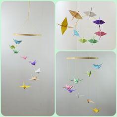Móbile de Origami Tsuru