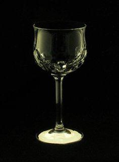 Nachtmann Germany Bavaria Regina Pattern Clear Cut Wine Crystal Glass bfe1543 #Nachtmann
