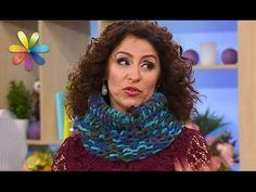 Свяжите теплый и модный шарф-хомут с помощью коробки! – Все буде добре. Выпуск 928 от 8.12.16 - YouTube