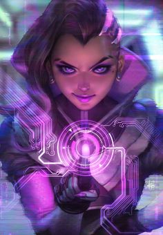 """pixalry: """"Overwatch: Sombra Fan Art - Created by Stanley Lau You can find more of Stanley's work on Society6. """""""