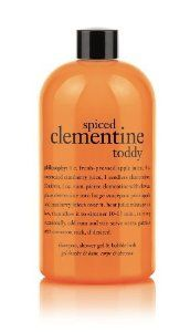 Philosophy Spiced Clementine Toddy Gel, 16 Ounce by Philosophy. $20.00. warm your heart and soul as you cleanse skin and hair with spiced clementine toddy shampoo, shower gel & bubble bath.warm your heart and soul with spiced clementine toddy shampoo, shower gel & bubble bath. this bath and shower treat is a delightful blend of citrus and spice scents to bring your seasonal spirit to life. the rich, foaming lather cleanses and conditions, leaving skin and hair f...