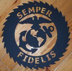 Semper Fidelis custom cut saw blade design. www.custommetaldesigns.webs.com