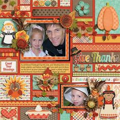 Autumn Fun - Give Thanks by Jady Day Studio Technobabble by Little Green Frog Designs