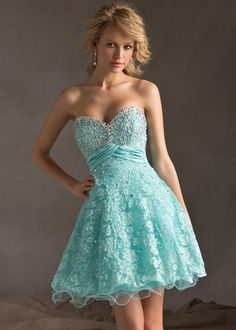 Image from http://www.dressforparty2014.org/images/Lace%20Cover%20Beaded%20Strapless%20Aqua%20Corset%20Back%20Homecoming%20Dress.jpg.