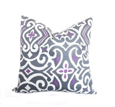 purple throw pillows purple pillow cover grey toss by