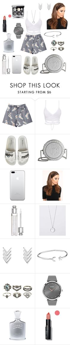"""""""Sport chic 😉"""" by rita-zakhour on Polyvore featuring Balmain, Alex and Ani, Charlotte Russe, BOSS Black, Creed, Bobbi Brown Cosmetics and Chanel"""