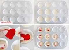"""Heart in a Cupcake"" Surprise Cupcakes - incl. Tutorial by niner bakes"
