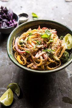 20 Minute Sesame Basil Chicken Noodles | @HBHarvest halfbakedharvest.com #easy #healthy #summerrecipes #quick #dinner