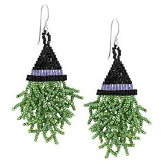 Witch Way Did She Go Earrings   Fusion Beads Inspiration Gallery    These are so adorable!
