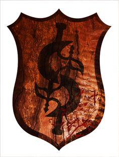 "Logo for the band ""Strider"" . Saara Kartimo."
